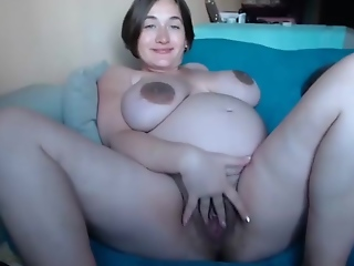 BIG Belly Pregnant camgirl