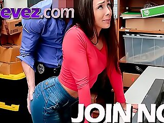 This naughty shoplifter teen is getting what she deserves for being a bad girl.