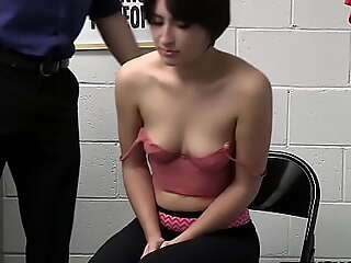 Teen housebreaker Angeline Red on the spot when the Lost Prevention officer fucked her
