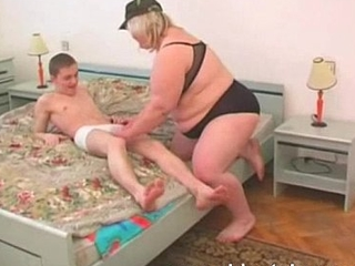 bbw blonde adult with young boy